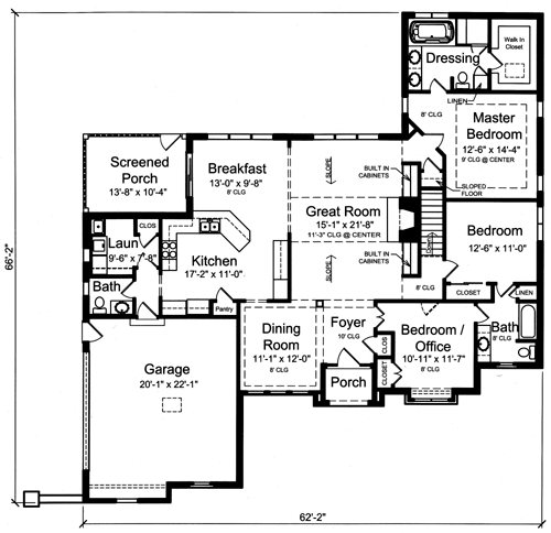 The Belville floor plan