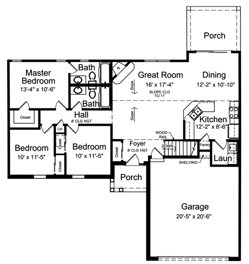 The Sullivan II floor plan